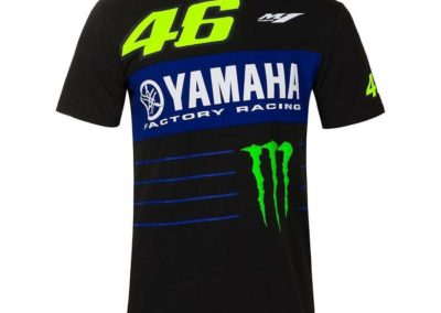T-Shirt VR46 Valentino Rossi 2020 Noir Powerline